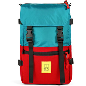 Topo Designs Rover Pack, turquoise/red